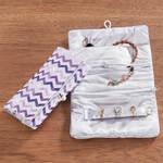 Zig Zag Purple Jewelry Roll