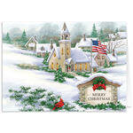 Personalized God Bless America Christmas Card Set of 20