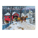 Personalized Home for Christmas Card Set of 20