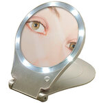 Lighted Home and Travel 10x Mirror