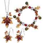 Autumn Leaf Jewelry, Set of 3