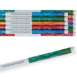 Personalized With God Foil Pencils, Set of 12