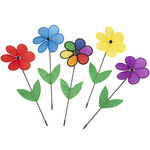 Colorful Flower Spinners Set of 5