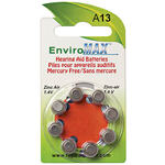 Fuji EnviroMax™ A13 Hearing Aid Batteries, 8 Pack