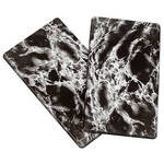 Black Marble Burner Covers Set of 2