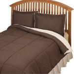 Sherpa Lined Alternative Down Comforter with Shams