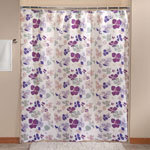 Violet Floral Shower Curtain