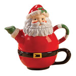 Santa Teapot for One