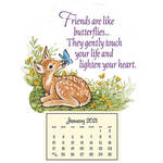 Fawn Mini Magnetic Calendar