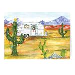 Desert Snowbirds Merry Christmas Personalized Christmas Card - Set of 20