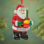 Personalized Bubble Light Santa Ornament
