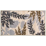 Leaf Print Accent Rug