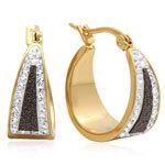 Black Diamond Dust Hoop Earrings