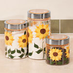 Sunflower Canisters, Set of 3