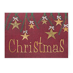Personalized Christmas Stars Card Set of 20