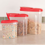 Pour and Store Plastic Dispensers, Set of 3