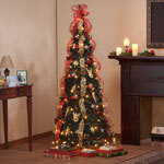 6-Foot Fully Decorated Red & Gold Pull-Up Tree by Northwoods™