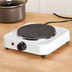 White Solid Single-Top Hot Plate by The Home Marketplace
