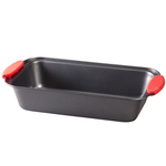 Loaf Pan with Red Silicone Handles