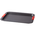 Large Baking Sheet with Red Silicone Handles
