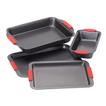 Cook's Essentials Baking Set with Red Silicone Handles