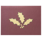 Holly Leaf Holiday Cards - Set of 18
