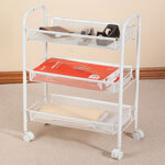 3 Tier Mesh Wire Rolling Cart