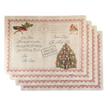Letters to Santa Vinyl Placemats, Set of 4