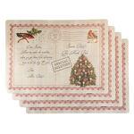 Letters to Santa Vinyl Placemats, Set of 4