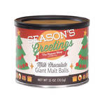 The Peanut Shop® Season's Greetings Milk Chocolate Giant Malt Balls