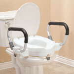 "4"" Toilet Seat with Arms and Lid"