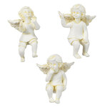 Resin Cherub Pot Sitters, Set of 3 by Maple Lane Creations™