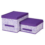 Lavender Storage Boxes, Set of 2