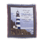 Lighthouse Blessings Tapestry Throw by OakRidge™