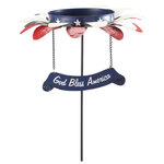 Metal Patriotic Bird Feeder Stake by Maple Lane Creations™