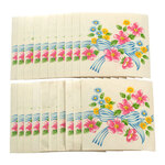 Self-Adhesive Floral Wall Tile Decals, Set of 20