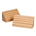 Wood Playing Card Holders, Set of 2