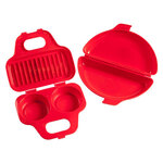 Microwavable Egg Poacher and Omelet Maker, Set of 3