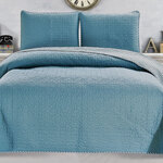 Jasmine 3-Piece Reversible Quilt Set