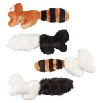 Fuzzy Animal Toys, Set of 4