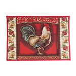 Rooster Tapestry Non-Skid Rug