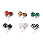 Genuine Gemstone Post Earrings - Set of 6 Pair