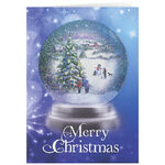 Personalized Winter Snowglobe Christmas Cards - Set of 20
