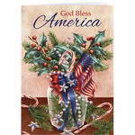 Patriotic Blessing Bookmark Christmas Card Set of 20
