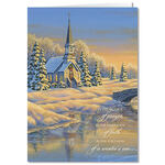 Personalized Reflection of Winter's Eve Christmas Card - Set of 20