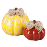 Small and Medium Ceramic Decorative Pumpkins