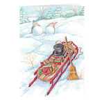 Wintertime Fun Non-Personalized Christmas Card set of 20