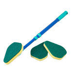 Telescoping Angled Scrubber with 3 Replacement Pads