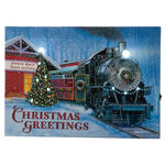 Doug Knutson Lighted Christmas Greetings Train Canvas by Northwoods™