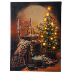 Doug Knutson Lighted Country Christmas Canvas by Holiday Peak™
